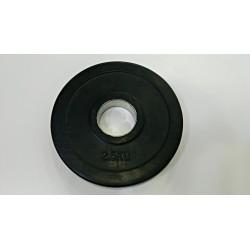 disco 2.5 kg olimpico engomado